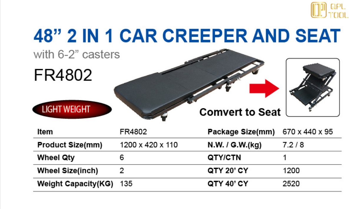 """48"""" 2 IN 1 CAR CREEPER AND SEAT-FR4802"""