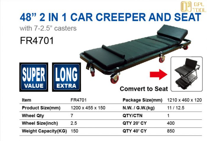 "48"" 2 IN 1 CAR CREEPER AND SEAT FR4701"