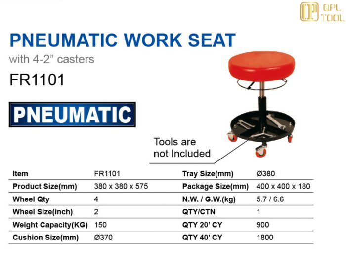 PNEUMATIC WORK SEAT FR1101