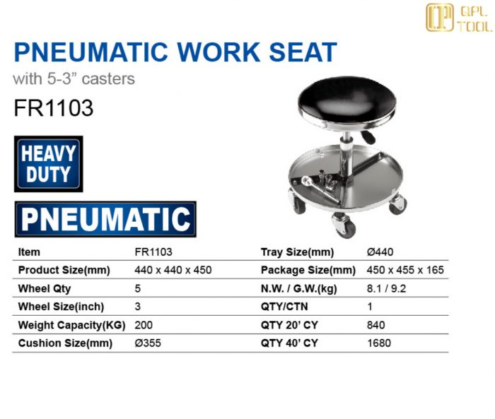 PNEUMATIC WORK SEAT FR1103