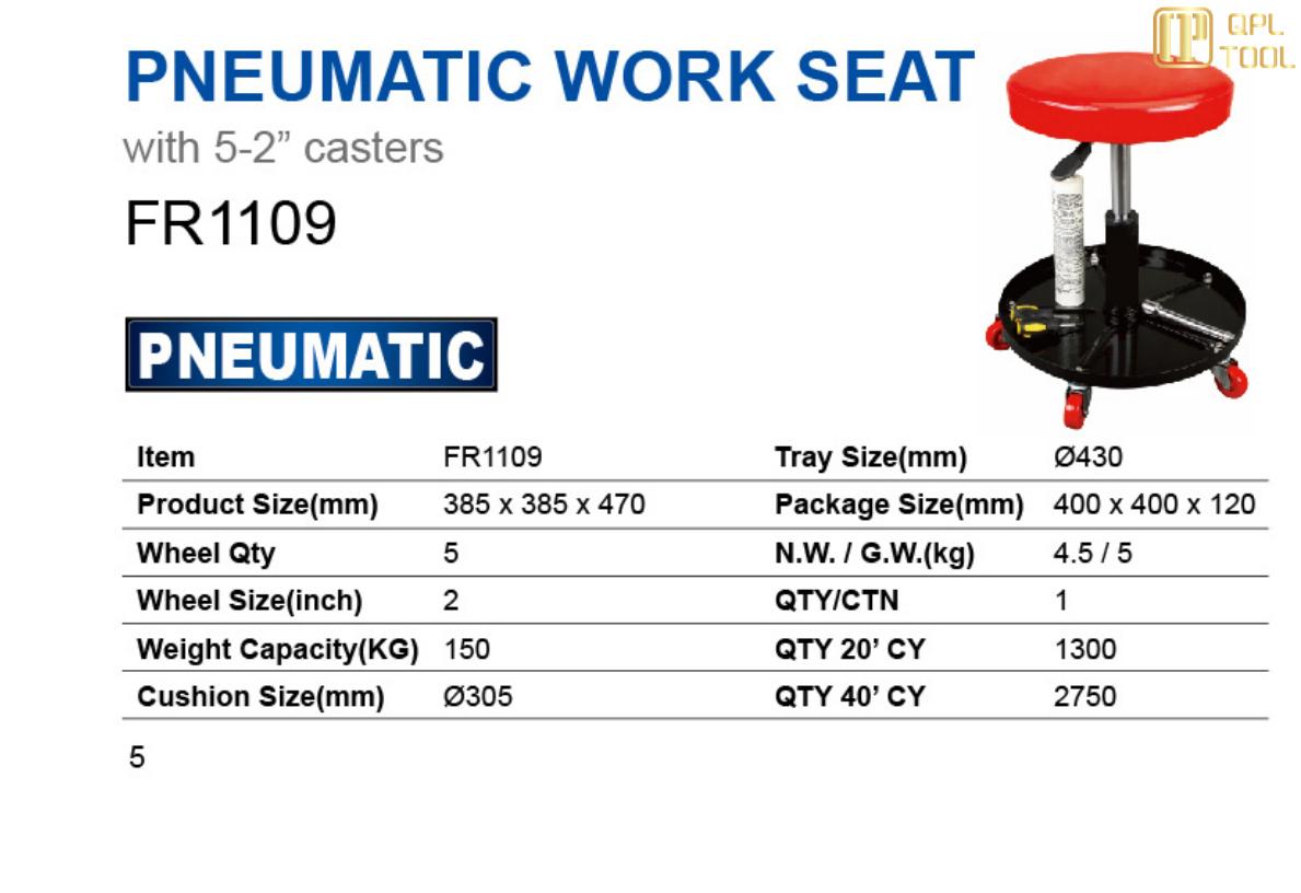 PNEUMATIC WORK SEAT FR1109